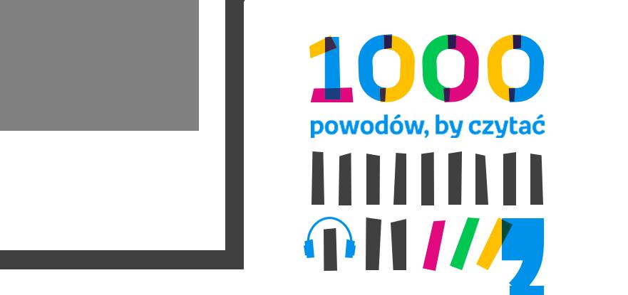 Logo konkursu '1000 powodów, by czytać'
