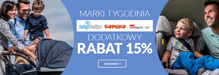 Marki Tygodnia - Baby Design, Bombiko, Espiro -  dodatkowy rabat 15%