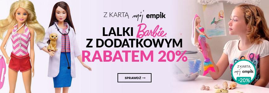 Lalki Barbie z dodatkowym rabatem 20%