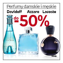 Perfumy damskie i męski Lacoste, Azzaro i Davidoff do -50%