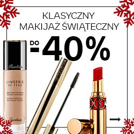 Klasyczny makijaż świąteczny. Rabaty do 40%