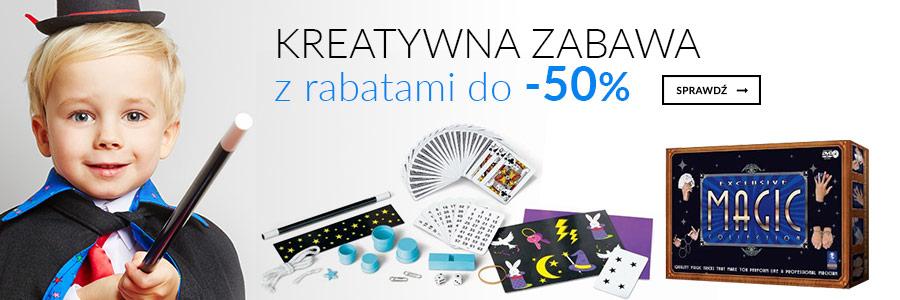 Kreatywna zabawa z rabatami do -50%