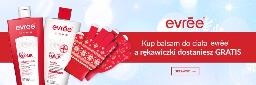 Rękawiczki gratis do balsamu Evree