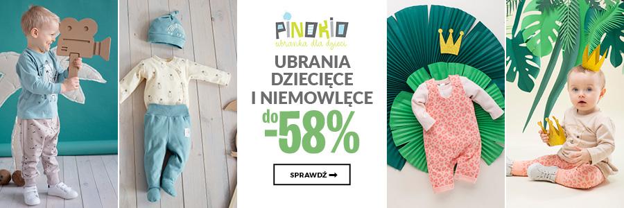 Pinokio - ubrania dziecięce i niemowlęce do -58%