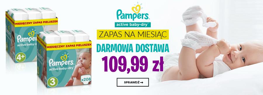 Pampers zapas na miesiąc w promocyjnej cenie 109,99