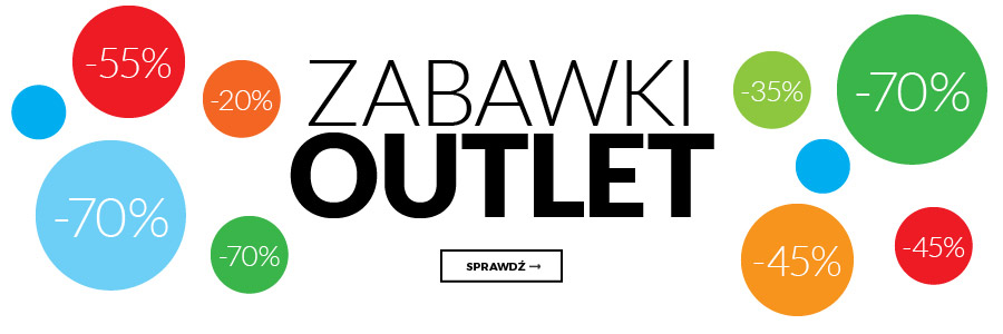 Outlet -Zabawki do -60%