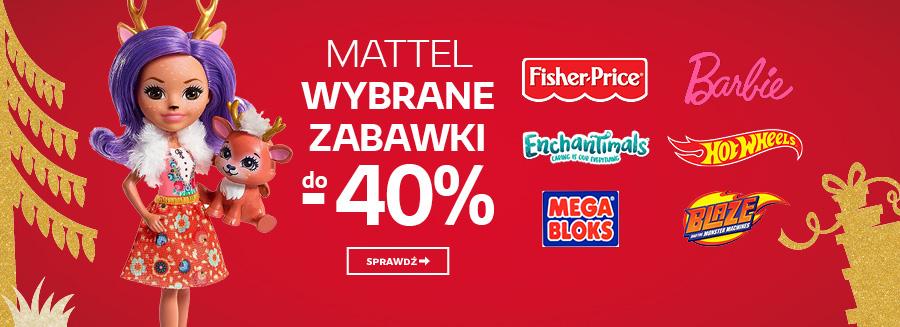 Mattel - wybrane zabawki do - 40%