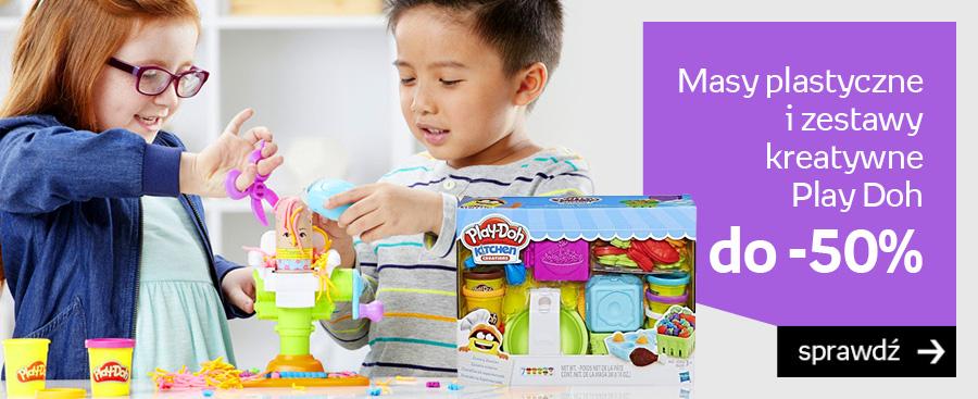 Masy plastyczne i  zestawy kreatywne Play Doh do -50%