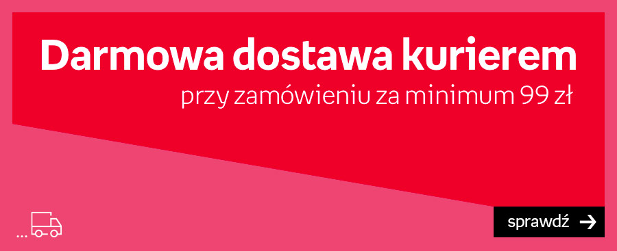 Darmowa dostawa kurierem przy zam. za min. 99 zł