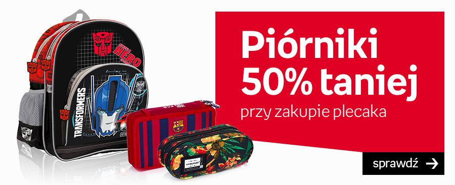 Plecaki i piórniki - promocja
