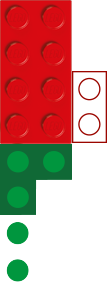 green and red vertical brick