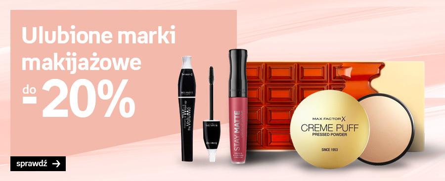 Ulubione marki makijażowe do -20%