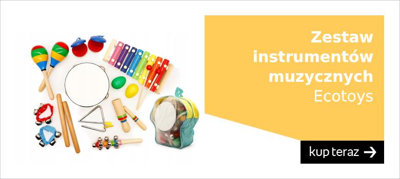 Zestaw instrumentów muzycznych wykonanych z drewna