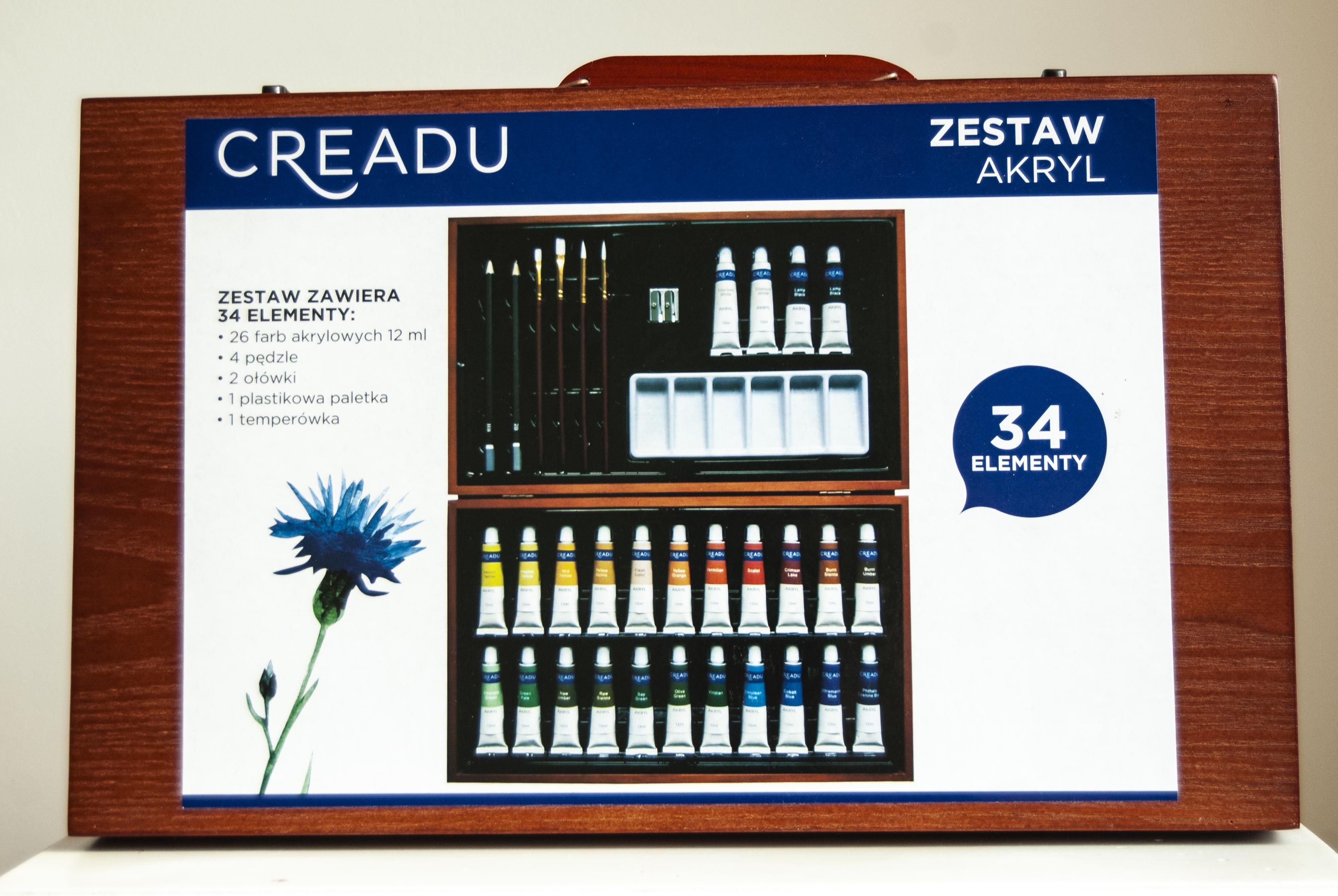 zestaw akryli od Creadu