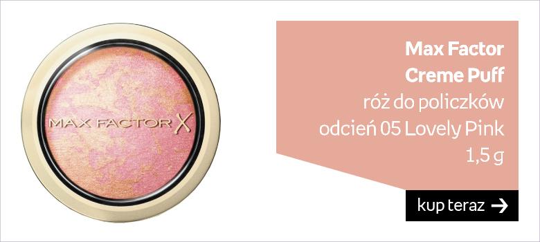 Max Factor Creme Puff róż do policzków  odcień 05 Lovely Pink 1,5 g