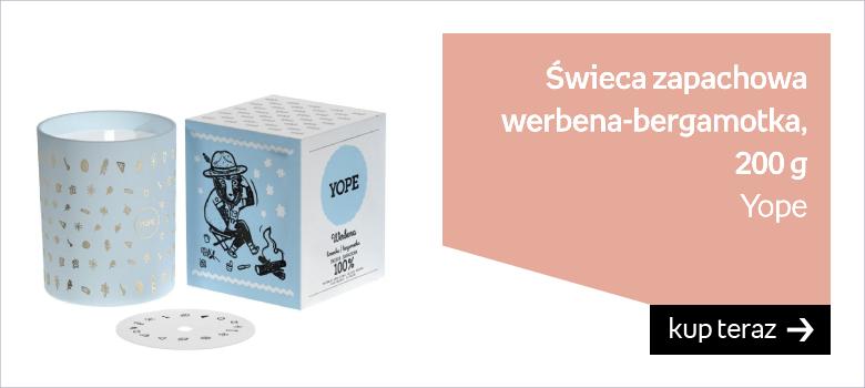 Świeca zapachowa YOPE, werbena-bergamotka, 200 g