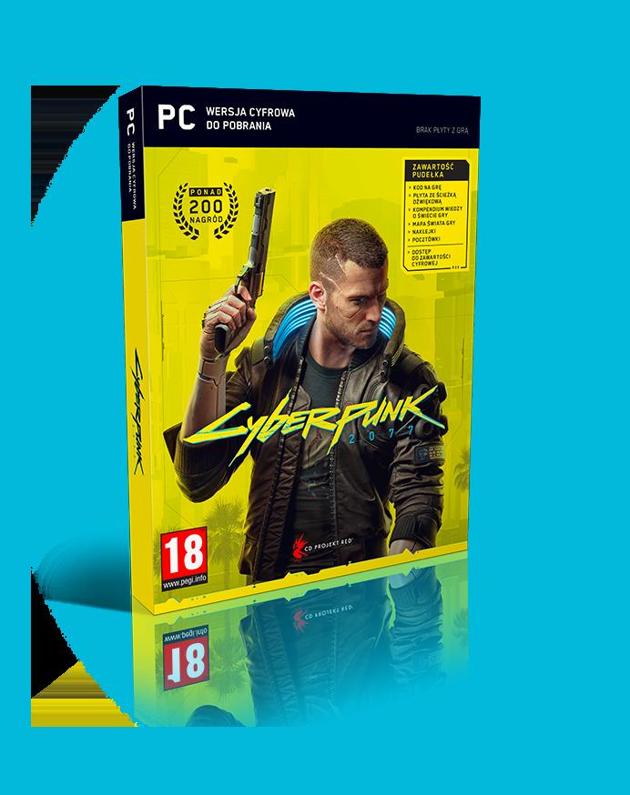 okładka gry Cyberpunk 2077 w wersji na PC