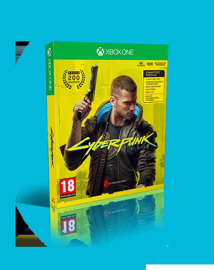 okładka gry Cyberpunk 2077 w wersji na Xbox One