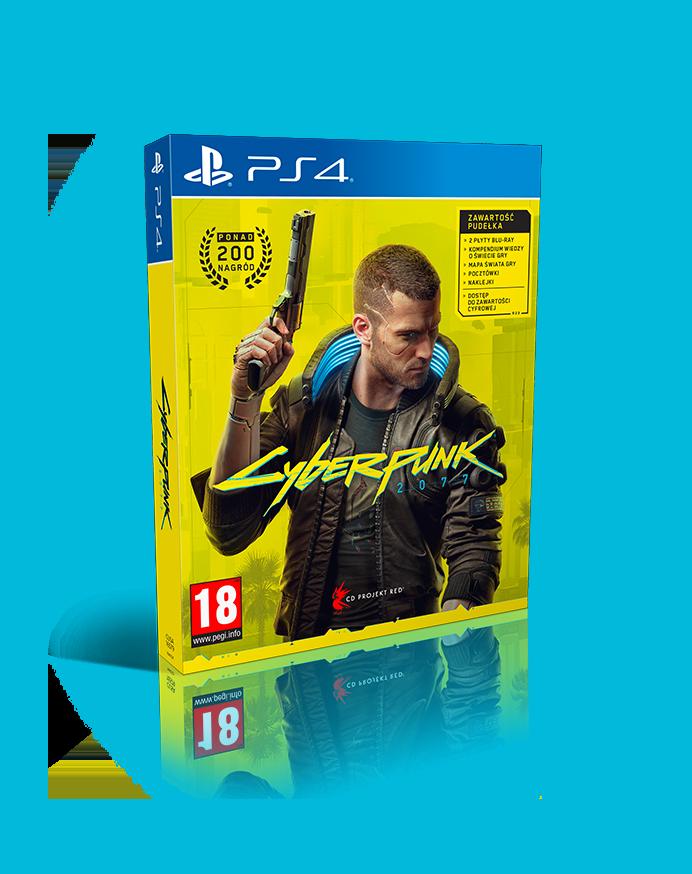 okładka gry Cyberpunk 2077 w wersji na Playstation 4