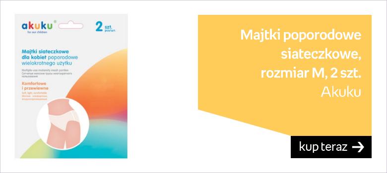 Akuku, Majtki poporodowe siateczkowe, rozmiar M, 2 szt.