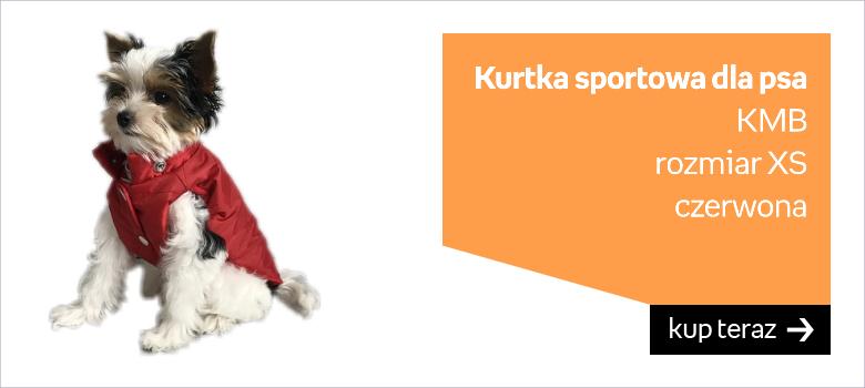 Kurtka sportowa dla psa KMB  rozmiar XS  czerwona