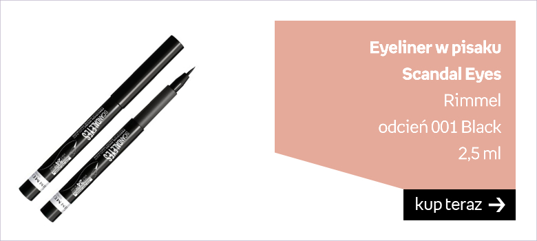 Eyeliner w pisaku Scandal Eyes Rimmel   odcień 001 Black  2,5 ml