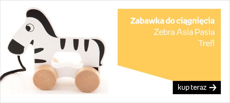 Trefl, zabawka do ciągnięcia Zebra Asia Pasia