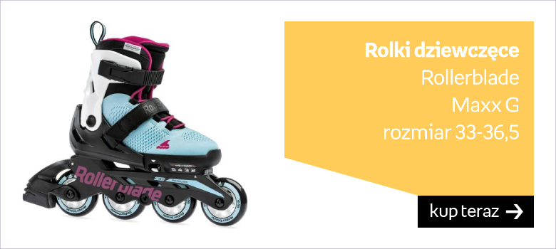 Rolki dziewczęce Rollerblade Maxx G  rozmiar 33-36,5