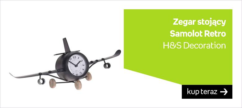 Zegar stojący w kształcie samolotu