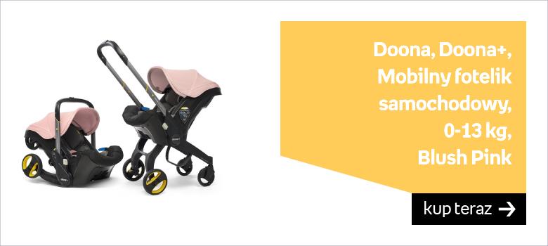 Doona, Doona+, Mobilny fotelik samochodowy, 0-13 kg, Blush Pink