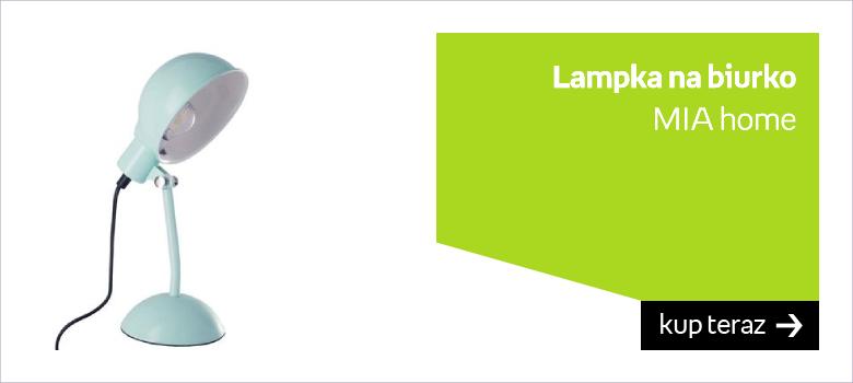Turkusowa lampka biurkowa