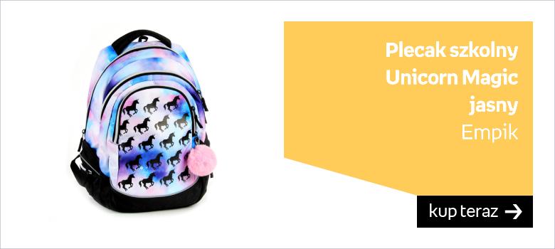 plecak szkolny jednorożce