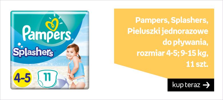Pampers, Splashers, Pieluszki jednorazowe do pływania, rozmiar 4-5, 9-15 kg, 11 szt.