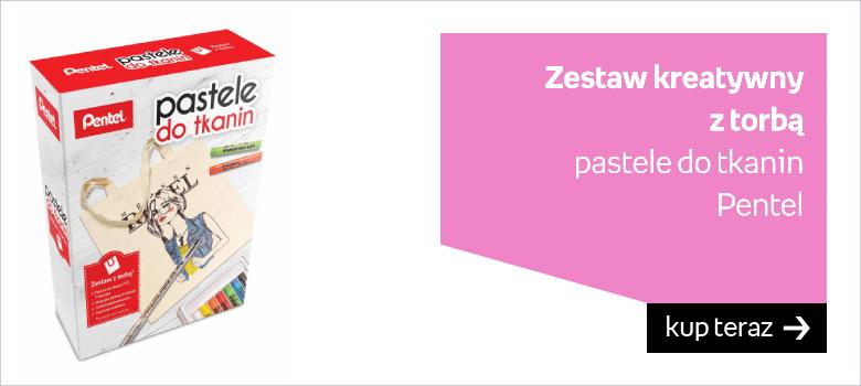 Zestaw kreatywny  z torbą  pastele do tkanin Pentel