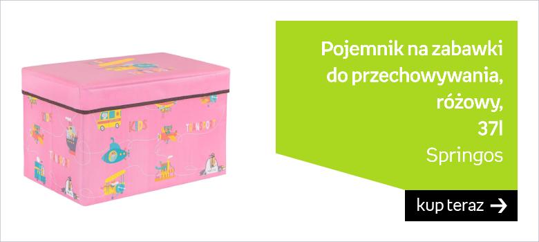 Pojemnik na zabawki 37l ogranizer do przechowywania różowy