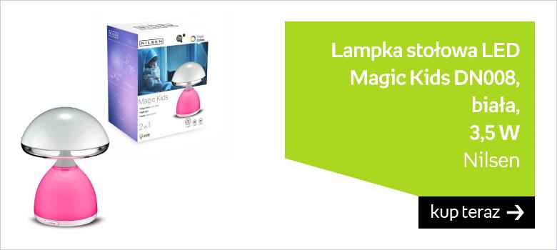 Lampka stołowa LED Nilsen Magic Kids DN008, biała, 3,5 W
