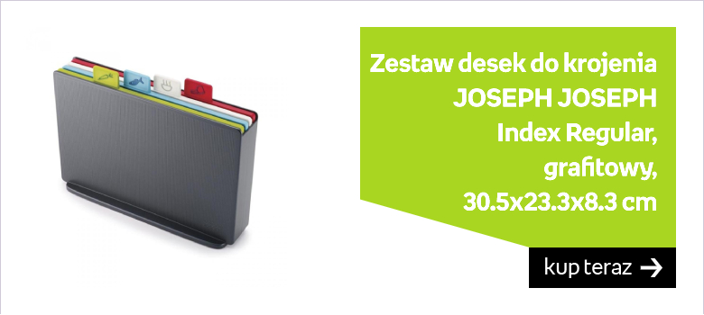 Zestaw desek do krojenia JOSEPH JOSEPH Index Regular, grafitowy, 30.5x23.3x8.3 cm