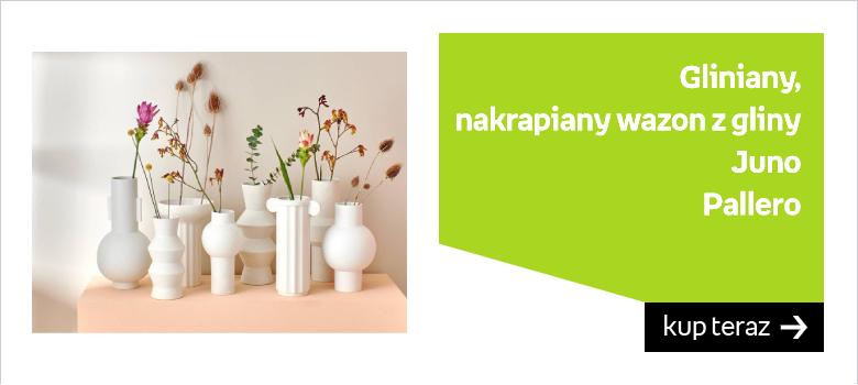 Gliniany, nakrapiany wazon z gliny Juno  Marka: Pallero