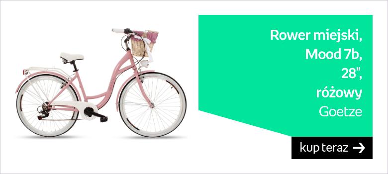 """Goetze, Rower miejski, Mood 7b, 28"""", różowy"""