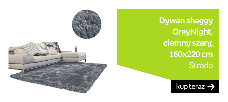 Dywan shaggy STRADO GreyNight, ciemny szary, 160x220 cm
