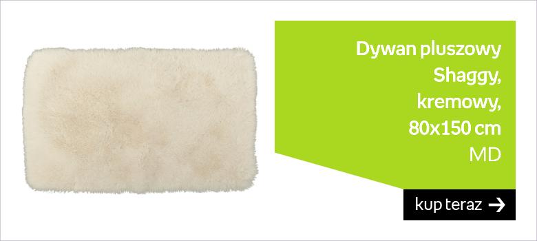 Dywan pluszowy MD Shaggy, kremowy, 80x150 cm