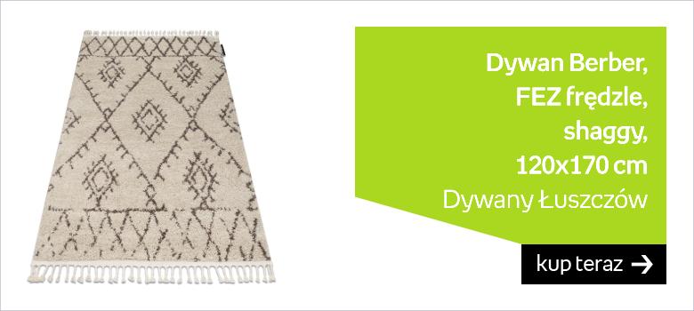 Dywan Berber, FEZ G0535 Frędzle shaggy, 120x170 cm