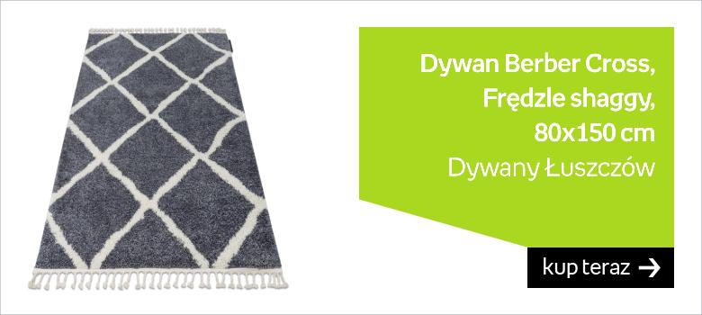 Dywan Berber Cross, B5950, Frędzle shaggy, 80x150 cm