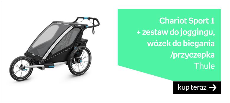 Thule, Chariot Sport 1 + zestaw do joggingu, Wózek do biegania/Przyczepka rowerowa, Czarny