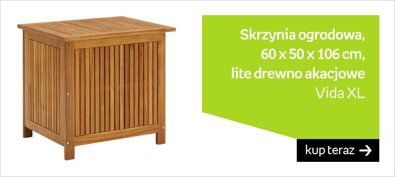 Skrzynia ogrodowa, 60 x 50 x 106 cm, lite drewno akacjowe