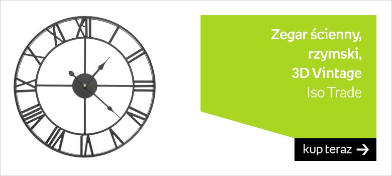 Zegar Ścienny Retro Loft Rzymski 3D Vintage Duży 11434