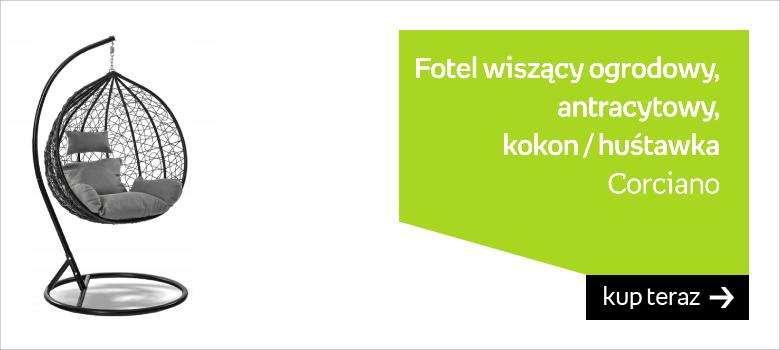 Fotel Wiszący Ogrodowy Cento Czarny / Antracytowy Kokon Huśtawka
