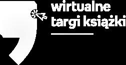 Białe logo Wirtualne Targi Książki