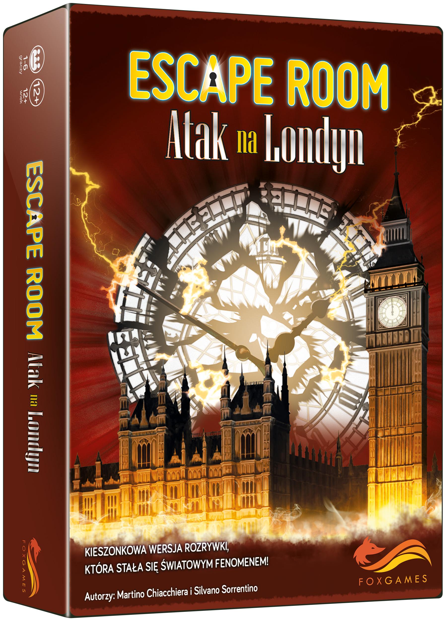 FoxGames, gra logiczna Escape Room. Atak na Londyn 27093283