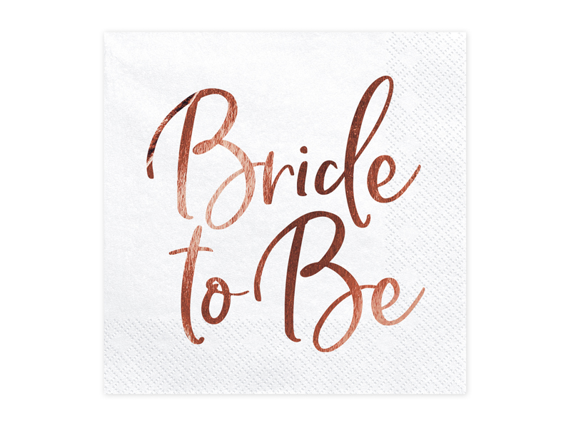 SERWETKI BRIDE TO BE